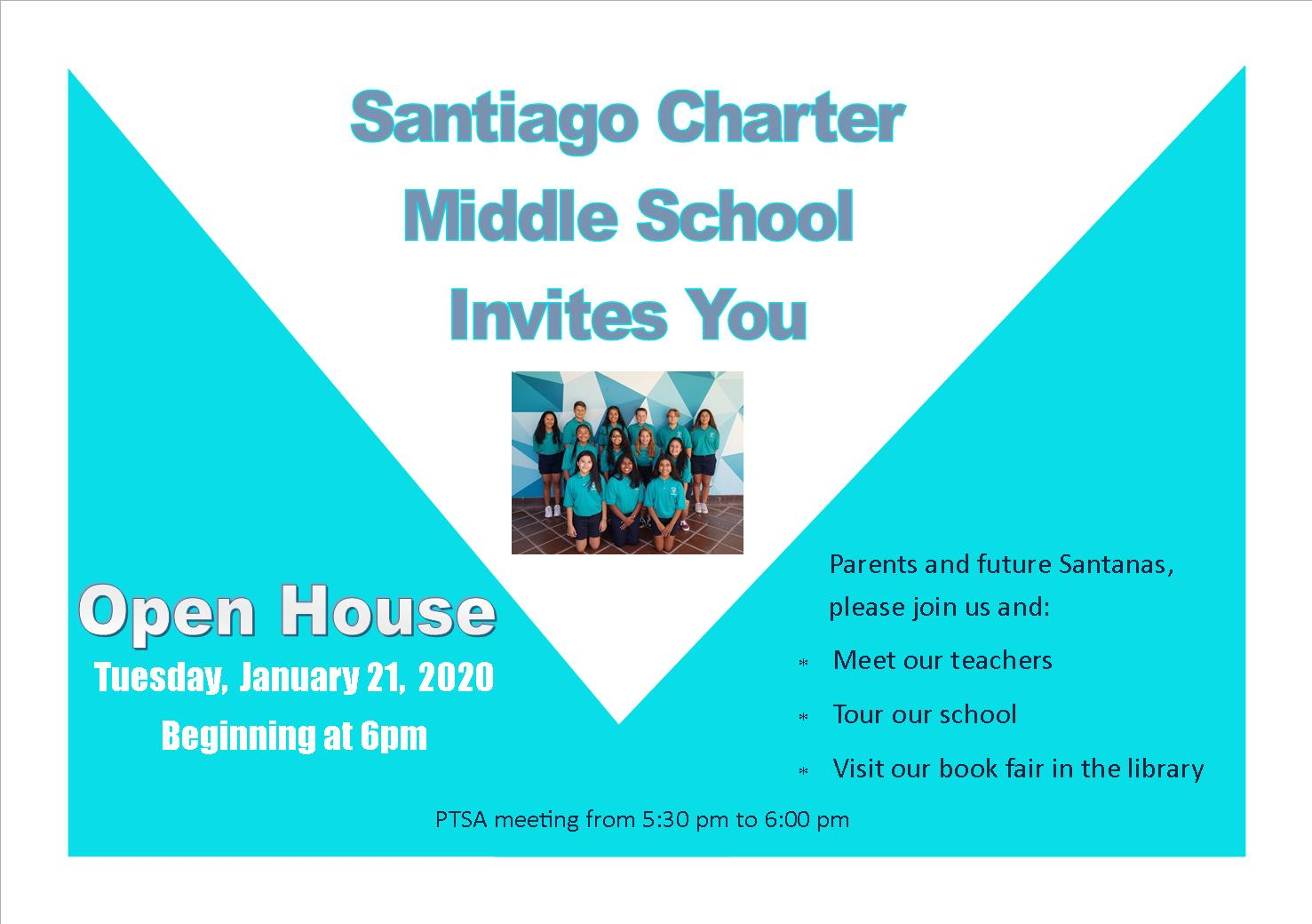 You're Invited to Santiago's Open House January 21