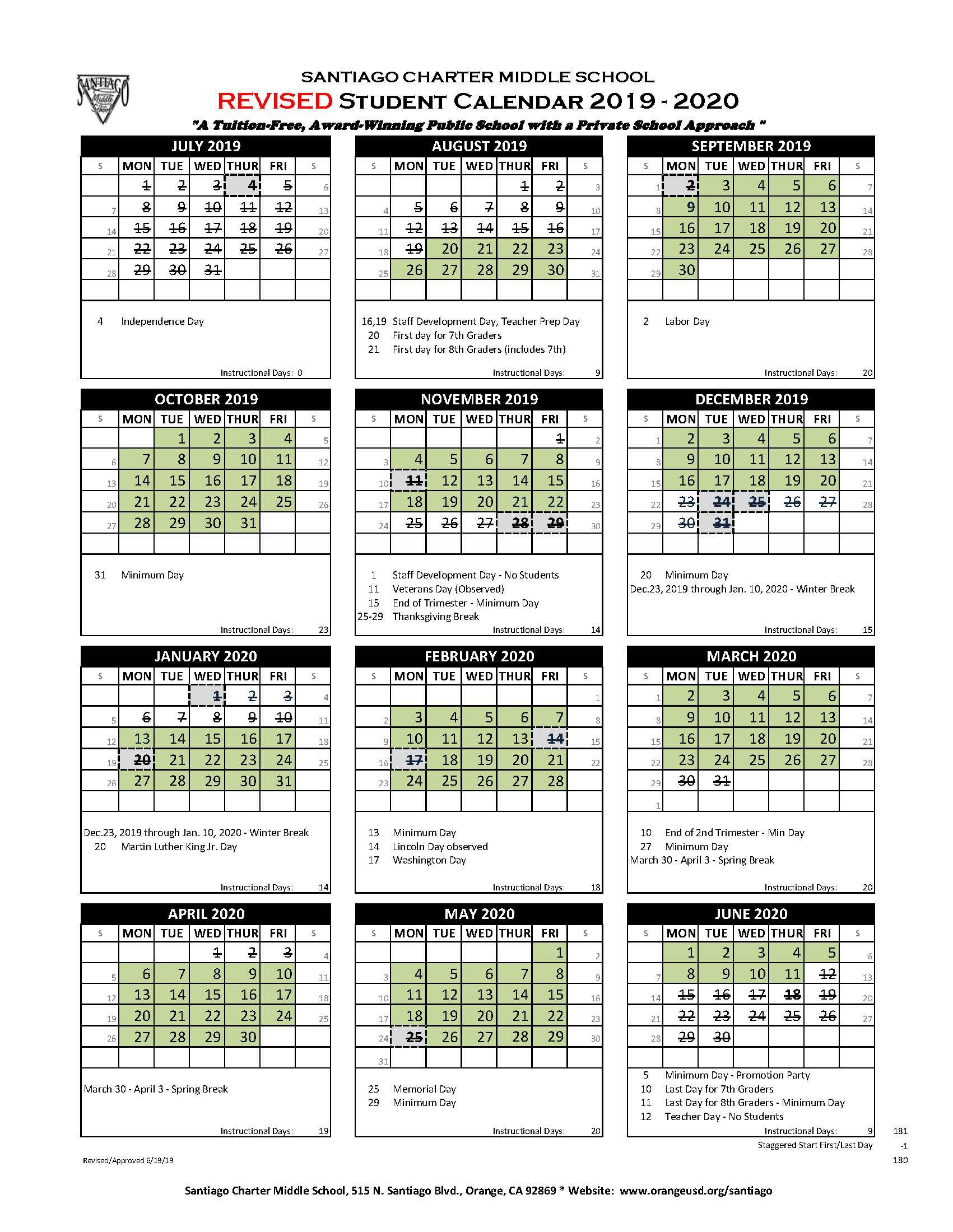 Doe Calendar 2020 18.California Easter Holidays 2019